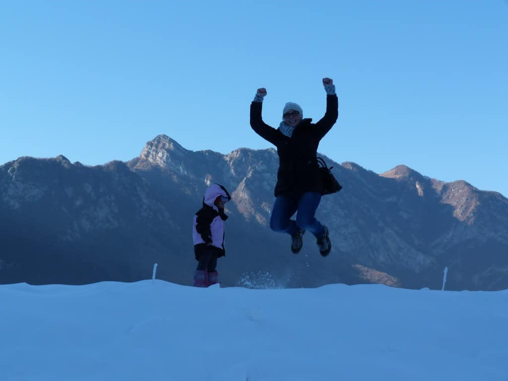salto sulla neve