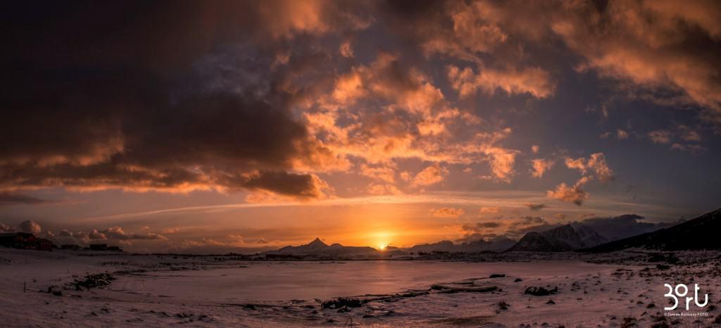 tramonto, lapponia, colori, calore, sole