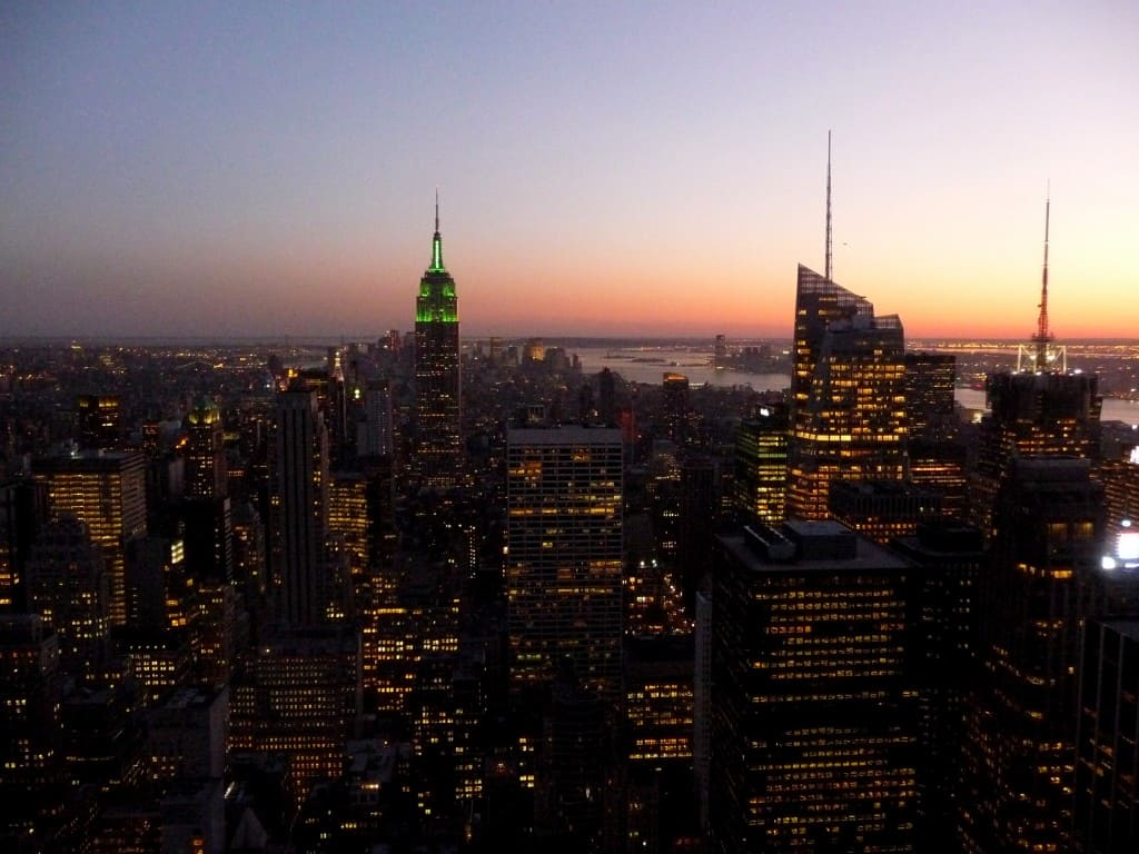 New York vista dal Top of the Rock
