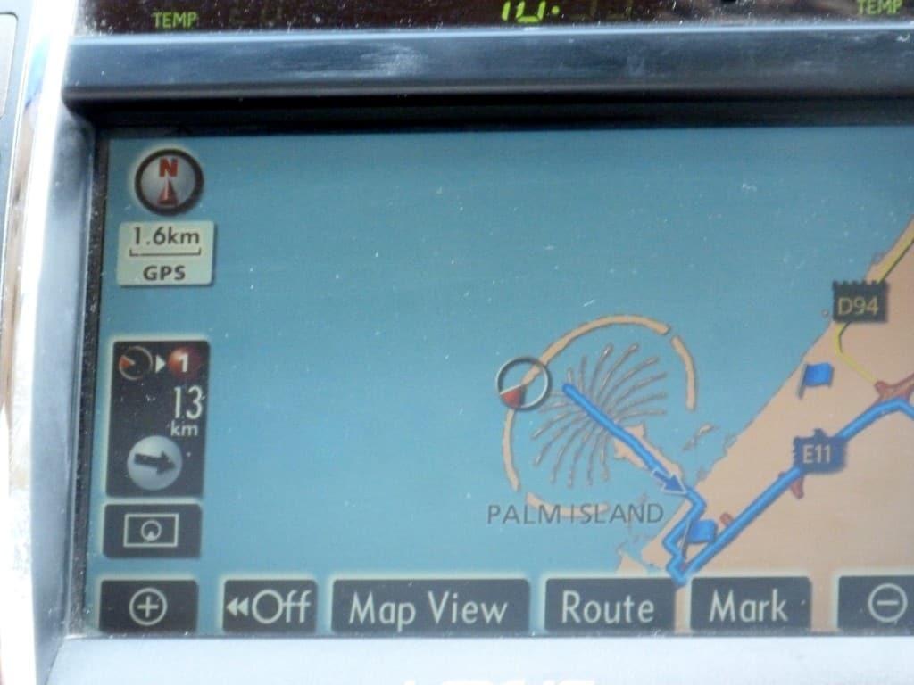 The Palm vista dal navigatore...io sono qui!