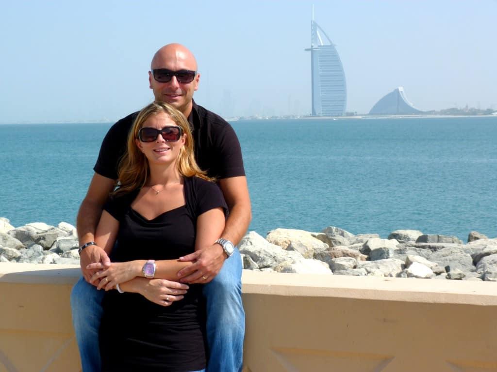 Burj Al Arab in lontanaza