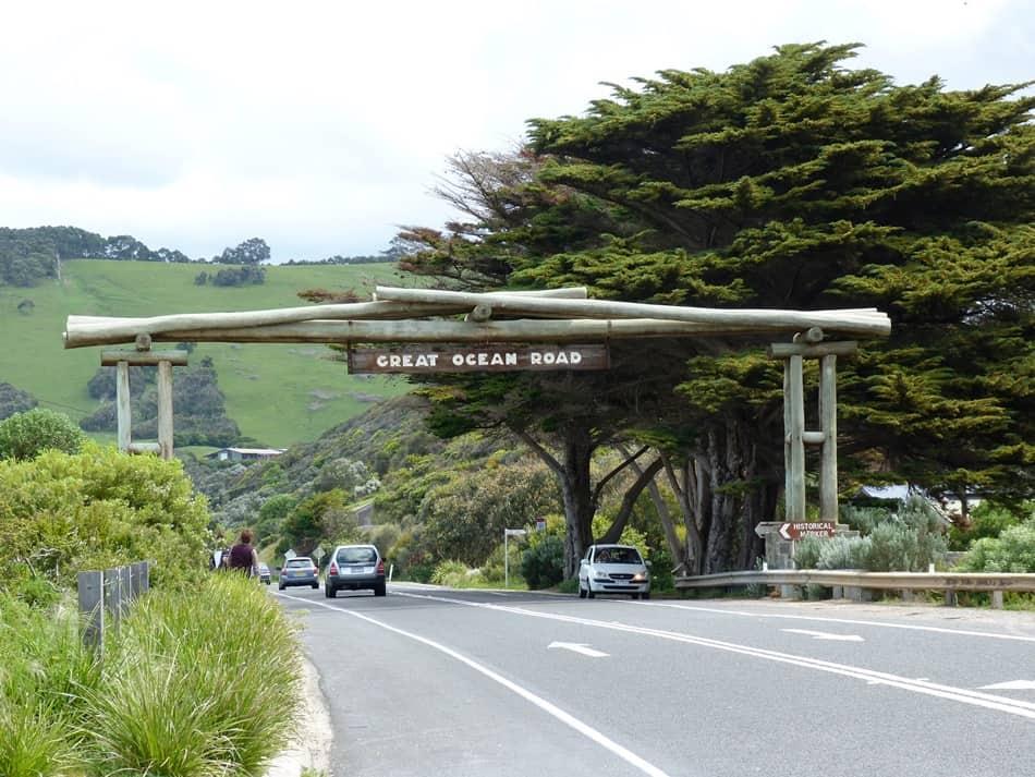 Inizio Great Ocean Road