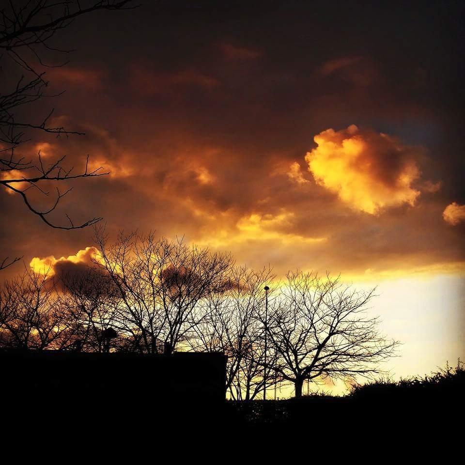 tramonti lungo il cammino di Santiago