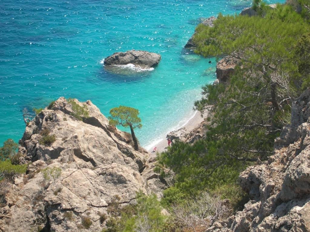 spiaggia isolata Karpathos