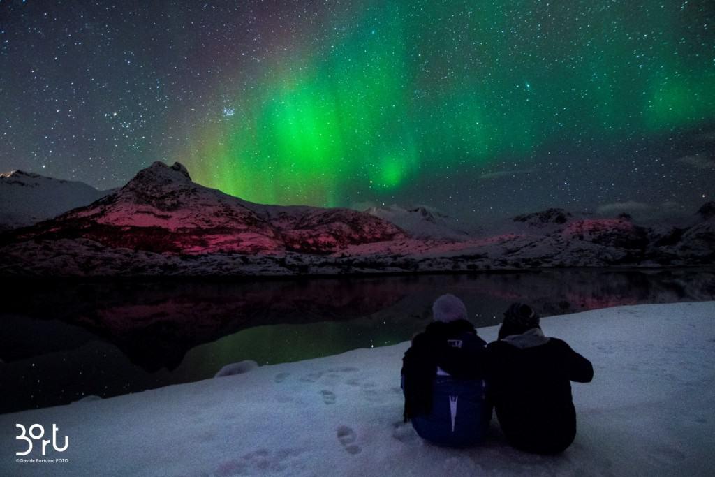 lapponia, aurora boreale, luce, stupore