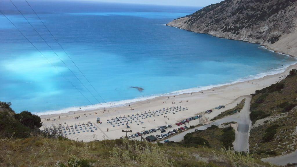 spiaggia di myrtos, grecia, cefalonia
