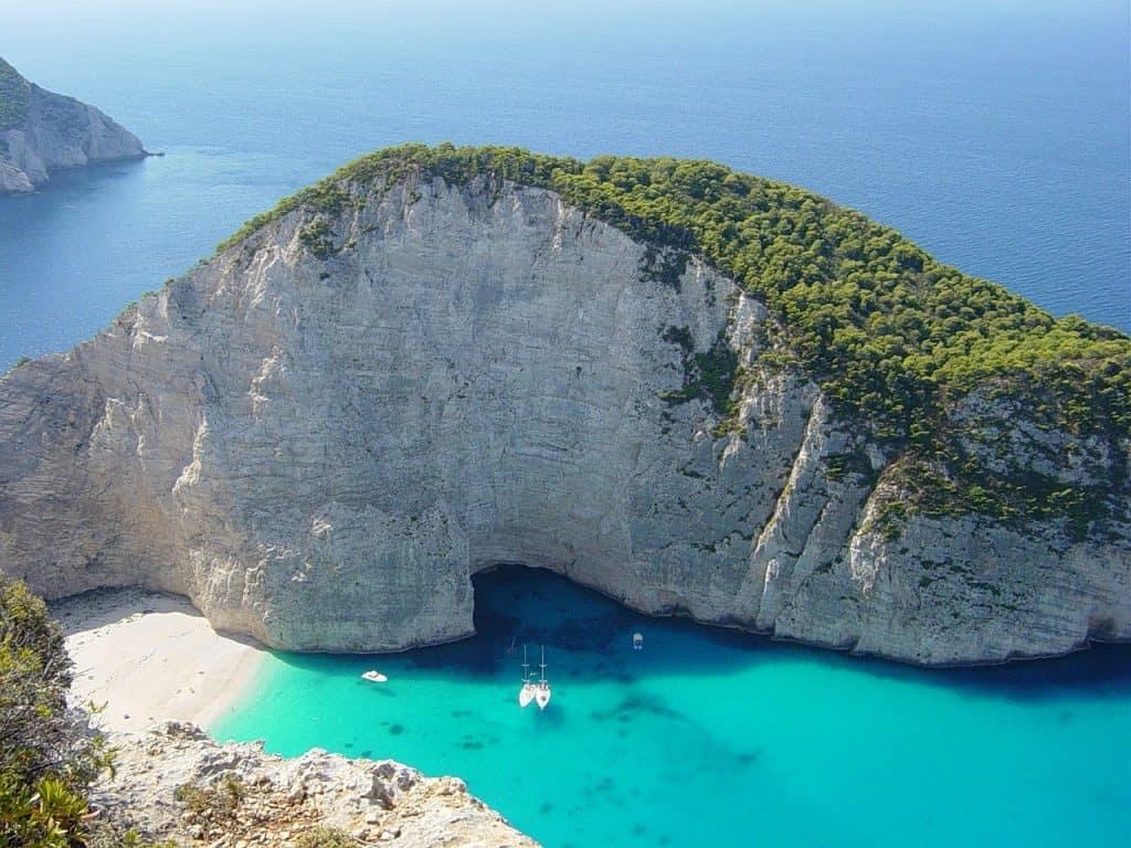 Navayo bay, grecia, zante, spiaggia, mare