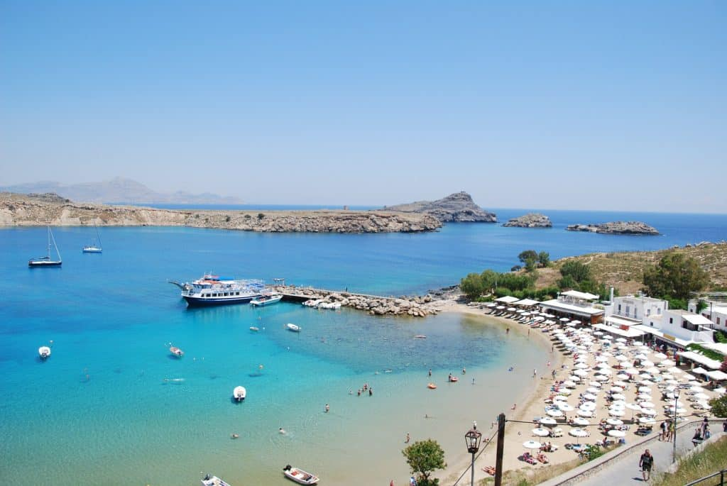 lindos, grecia, mare