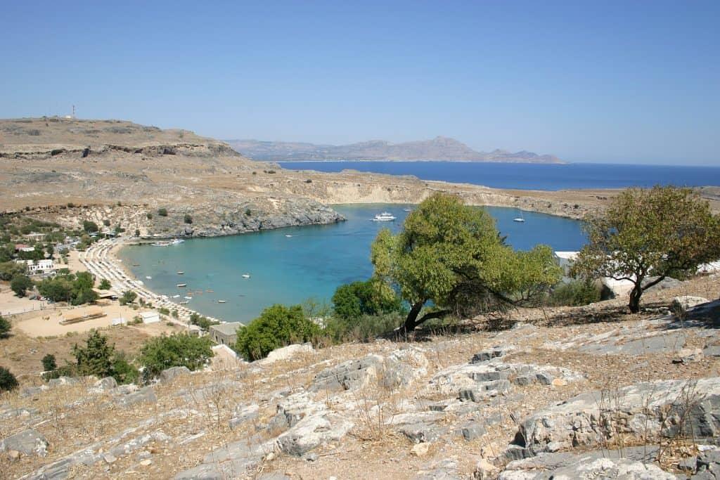 rodi, spiaggia, grecia, mare