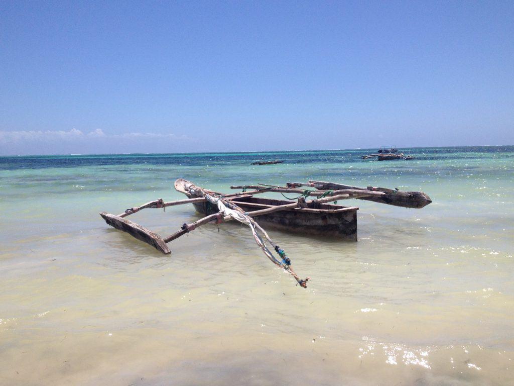 barca, mare, oceano indiano, zanbibar