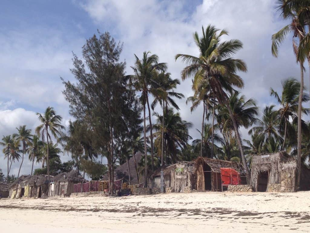 case di zanzibar, africa, oceano indiano